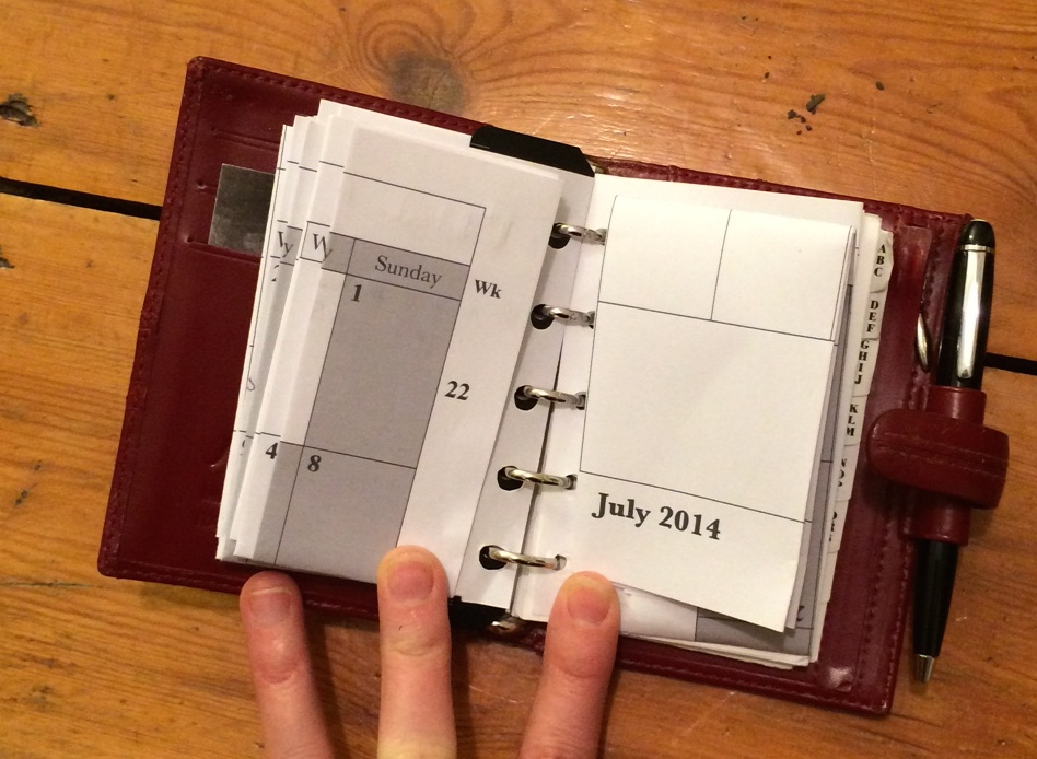 4 Filofax in use 4a