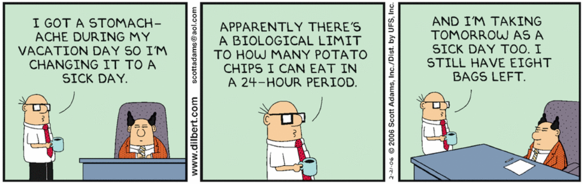 Dilbert Limit to potato chips a human can eat